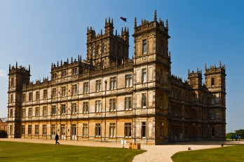 Highclere Castle in Hampshire, England: the Victorian mansion serving as TV's fictional Downton Abbey