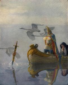 It looks like the Celtic hero, King Arthur, couldn't keep his people from going English (assuming he even existed).