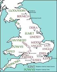 England & Wales around 600 C.E.